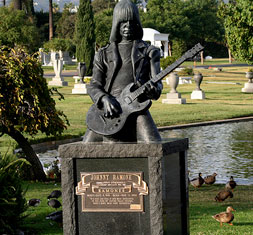 Johnny Ramone at Los Angeles' Hollywood Forever Cemetery
