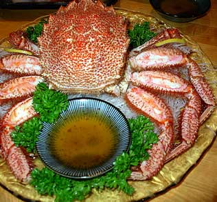 Japan's northern island Hokkaido is famous for its freshly caught crab from the seas surrounding the island. In Sapporo, be sure try one of the savory crab dishes.