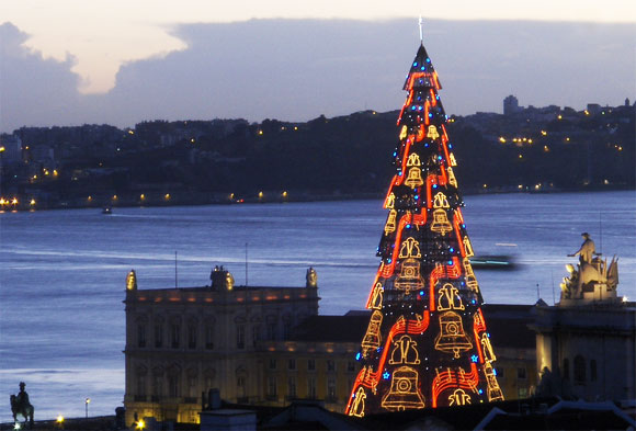 The Big Christmas Tree in Lisbon, Portugal