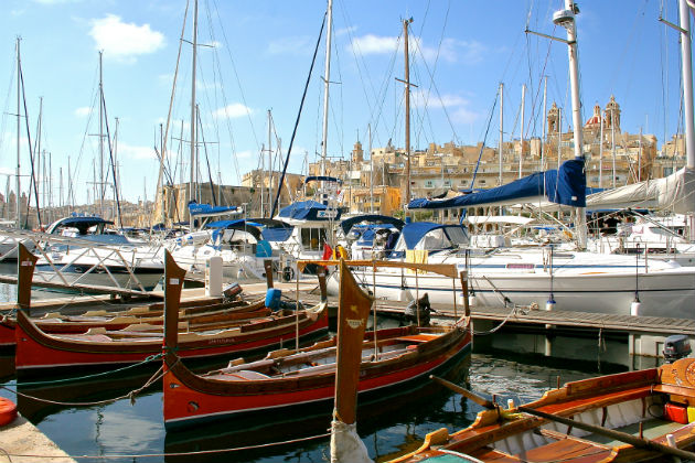 Taxi Boats and sail boats Vittoriosa Malta