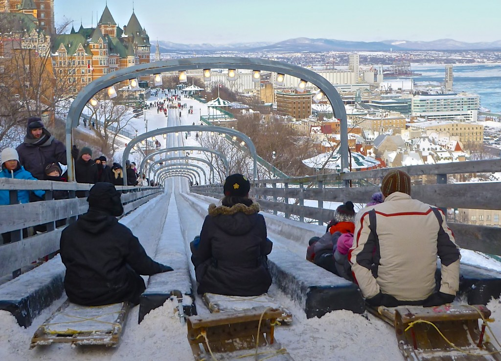 view from the quebec city toboggan run